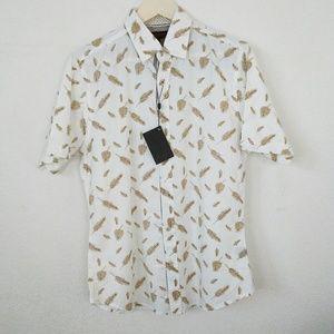 NWT SMASH Short Sleeve Button Down Dress Shirt